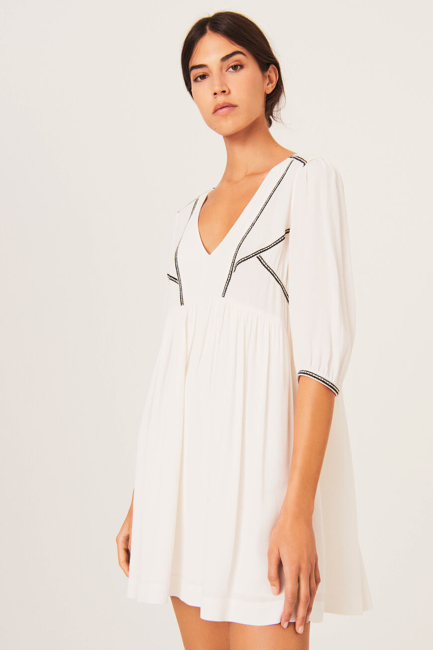 ROBE ALMA ROBES COURTES ECRU