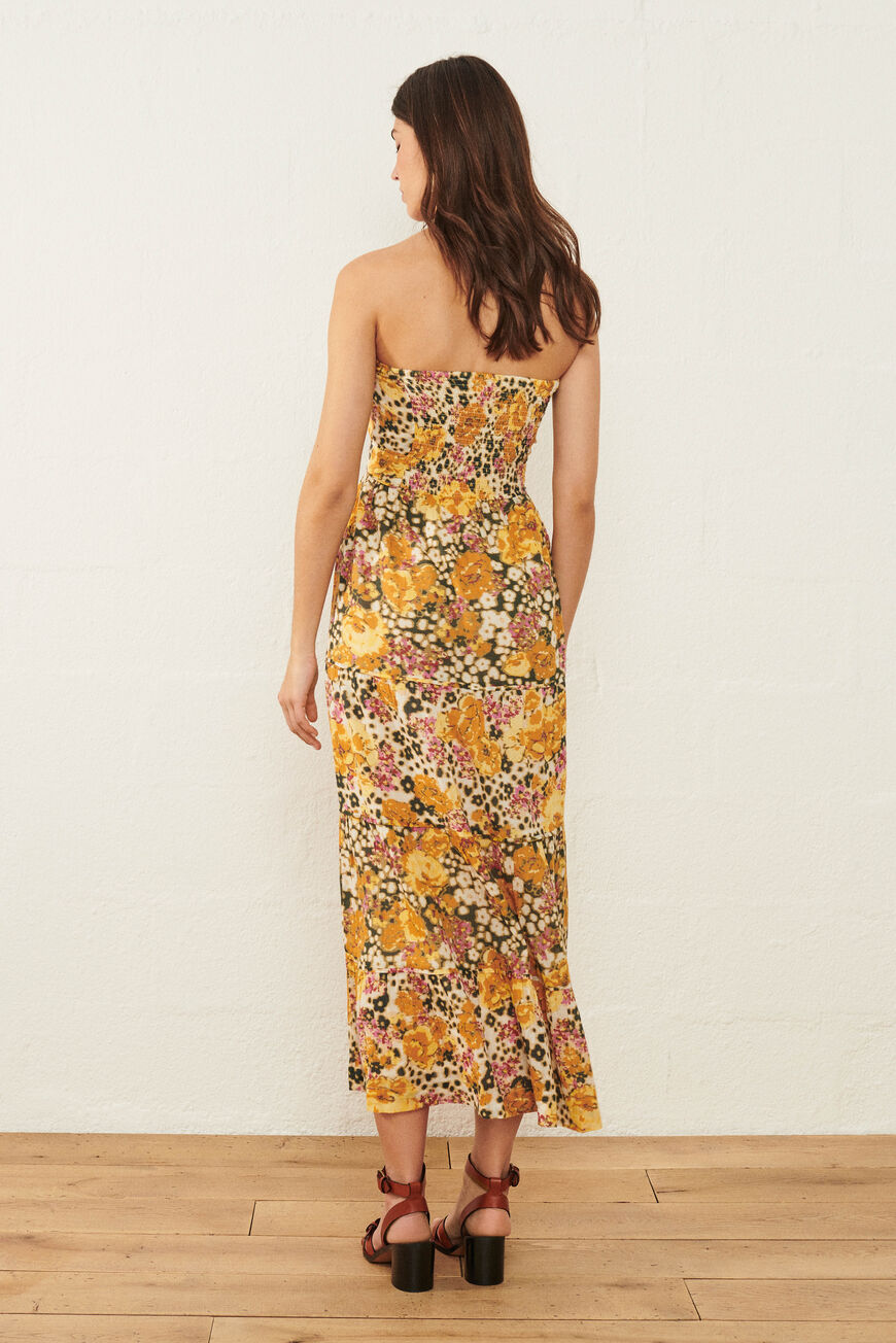 ROBE DALID ROBES LONGUES OCRE