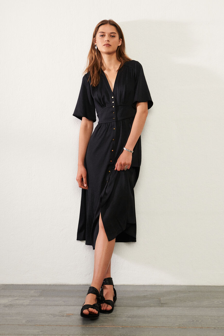 ROBE PAMELA ROBES MIDI NOIR