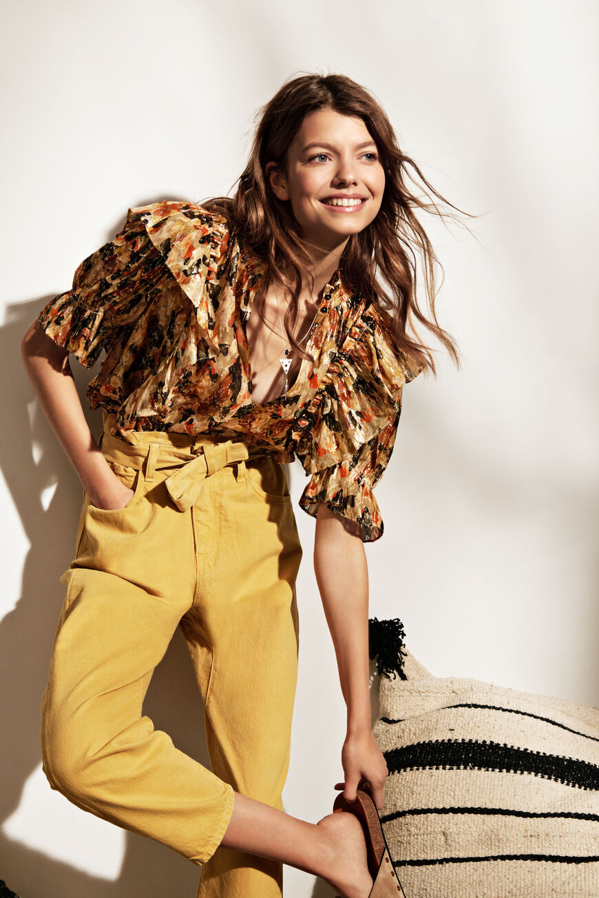 BLOUSE GILDA TOPS OCRE