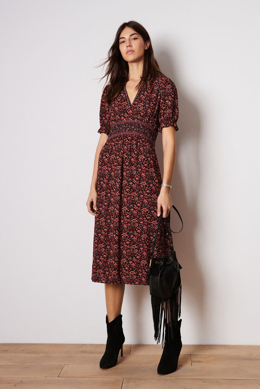 ROBE MOLLY ROBES MIDI NOIR