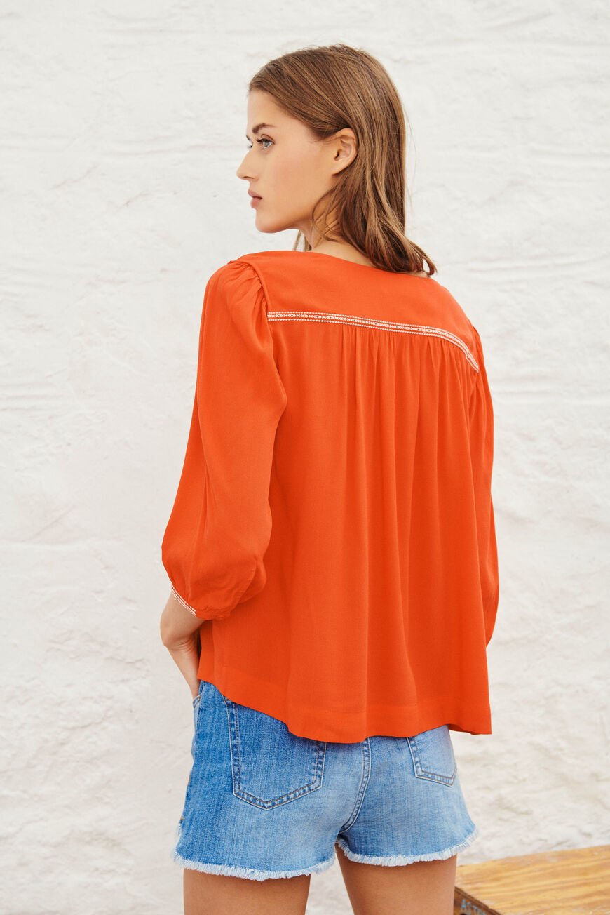 BLOUSE AMBER TOPS & CHEMISES ROUGE