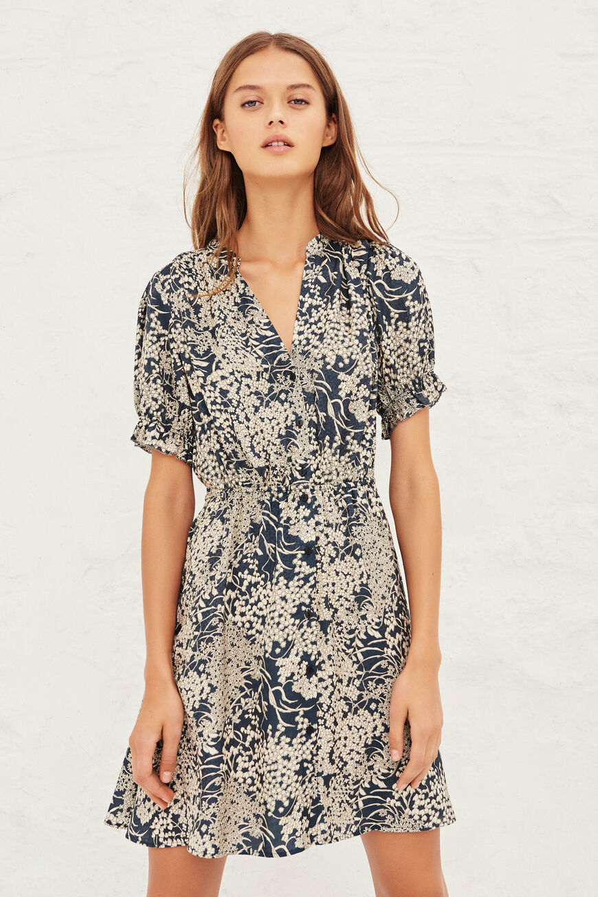 ROBE MAIA ROBES MIDI MARINE