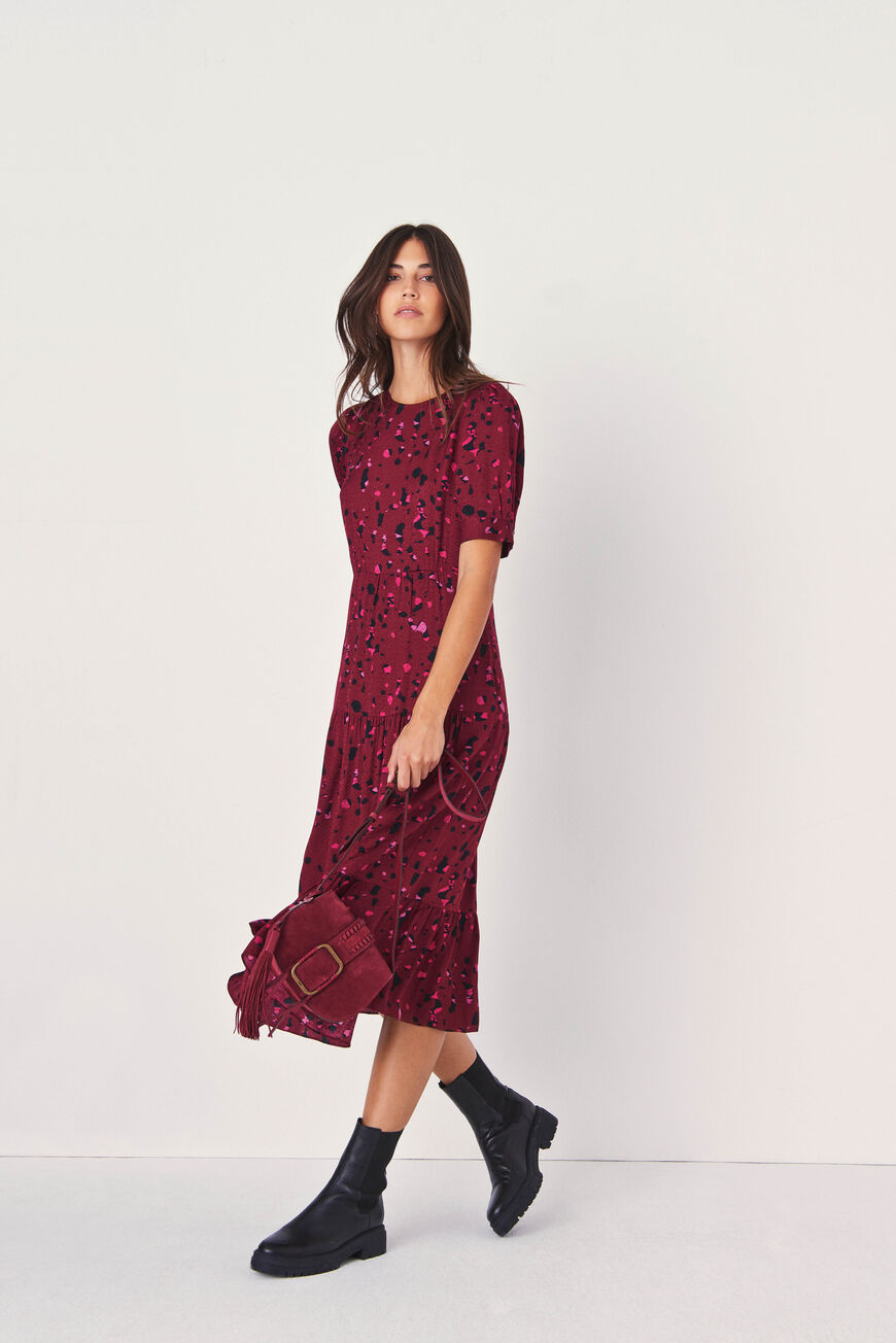 ROBE TONYA Lookbook BORDEAUX