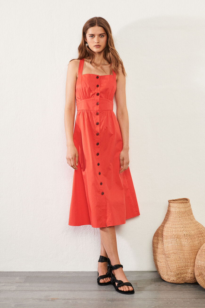 ROBE CYBELLE ROBES MIDI GRENADINE