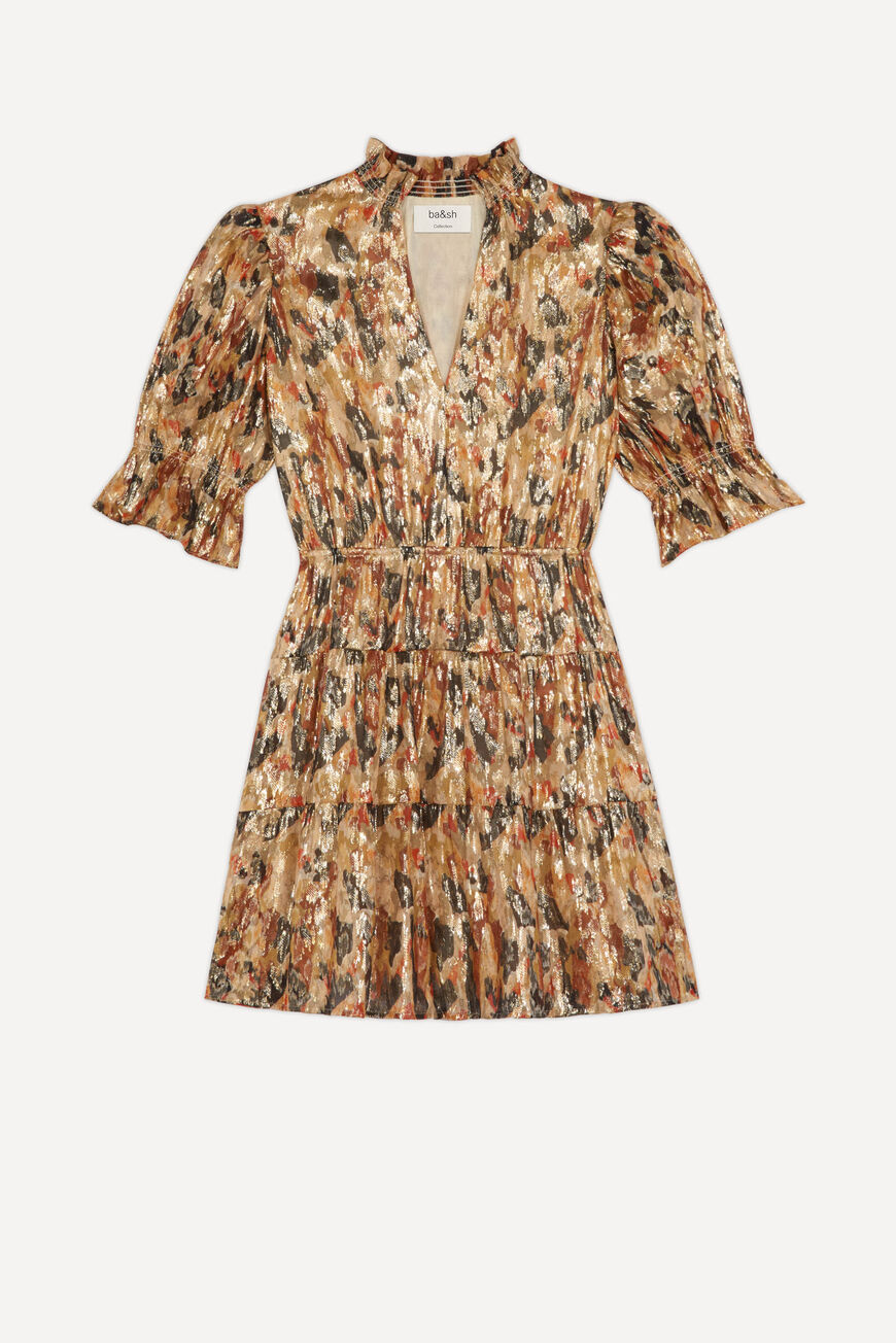 ROBE GLORIA ROBES COURTES OCRE