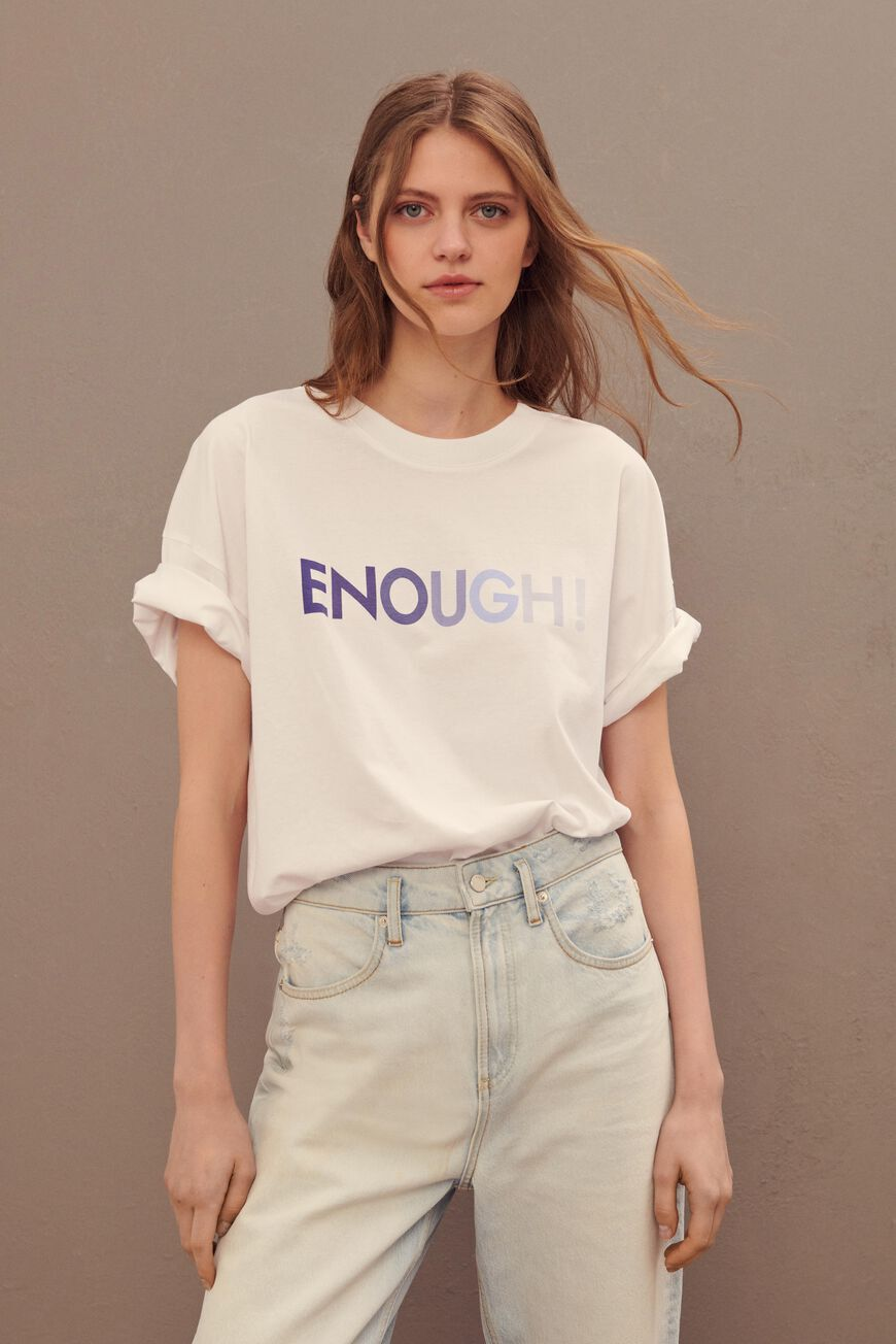 T-SHIRT ENOUGH New Collection BLANC